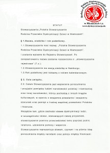Statut: Polskie Stowarzyszenie Dyskryminacja.de str.1